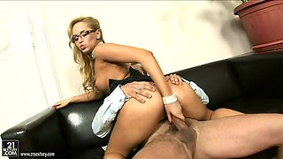 juicy blonde aleska diamond gets impaled by her sex starved boss