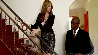 Hot wife Julia Ann loves black dick