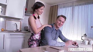 Spoiled college chick Ambika Gold seduces her stepbrother