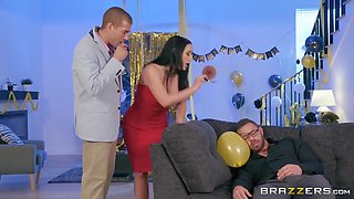 Huge Boobs And Angela White In Stacked Wife Angela Cheats On Her Drunk Husband With His Best Friend