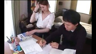 Beautiful Bra-Less Asian Student