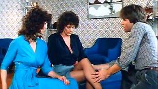 Delightful brunette ladies blow hard cocks in the sauna