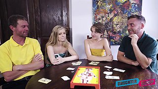 Card games lead to swinger foursome with Harlow West and Dakota Burns