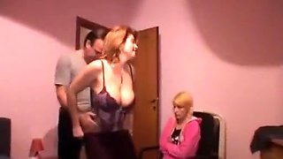 Italian mom and daughter sex party