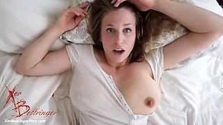 Xev Bellringer is a plump brunette with big milk jugs, who likes a good fuck