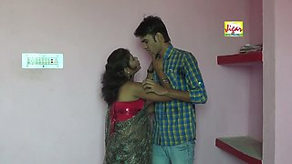 Adorable and hot amateur Indian chick with her man