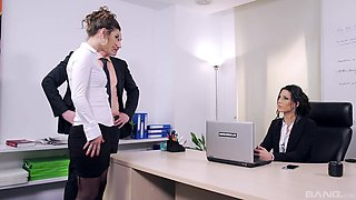Slutty teen ends up being fucked at the office