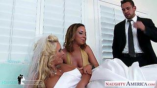 Johnny Castle fucks bride and bridesmaid Phoenix Marie and Jada Stevens