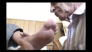 German femdom foot worship mistress