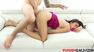 Teen whore Michelle Martinez gets punished