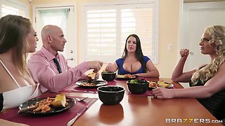 3 On 1 Foursome With Hot Pornstars Angela, Kagney And Phoenix With Kagney Linn Karter, Phoenix Marie And Johnny Sins