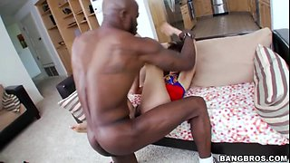 Asian girl Marica Hase and big black cock