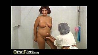 omapass grandma bathroom lesbian footage