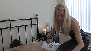Blonde Latex Mistress Sounding C Part2 on SugarCamGirls.com