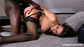 Brutal mandingo fucks alluring pussy of nasty chick in stockings Martina Gold