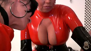 male sub fisted by latex girls