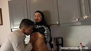 Sexy surprise for Muslim wife