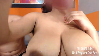 Hot Pregnant Latina Milking Everywhere