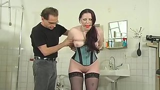 Blindfolded Youngster Gets Spanked Whilst Being Strapped