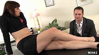 WANKZ- Curvy Female Boss Addie Juniper