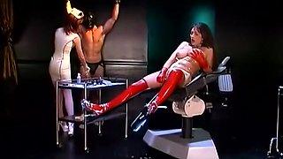 Fabulous pornstars Taylor St. Claire and Alex Foxe in amazing latex, threesomes sex scene