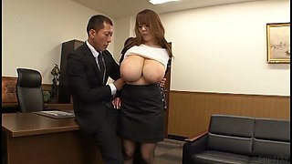 huge tits japanese secretary