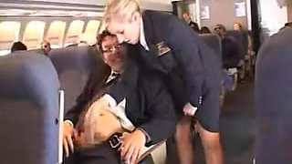 american stewardess handjob part 1