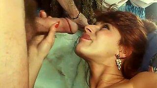 Gorgeous European classic milfs love sucking dicks