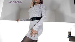 dd grey dress