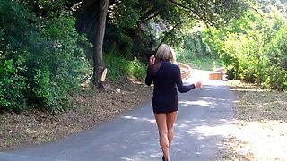 high heels short and transparent dress