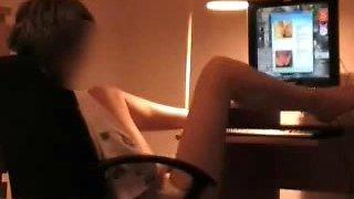My s ister having fun on webcam