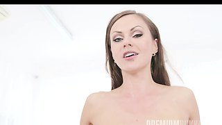 Tina Kay swallows 68 big loads and got DP fucked in the ass
