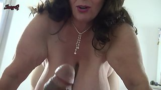 busty mom teases son