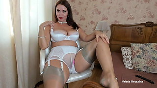 Sexy lady caresses her exquisite body