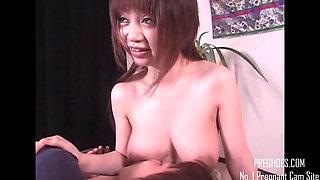 Busty Lactating Japanese MILF 3 - More at PregHoes.com