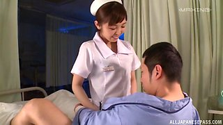 Lovely babe Mizutori Fumino lets a horny guy bang her from behind
