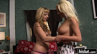 Smoking hot girls make one another happy