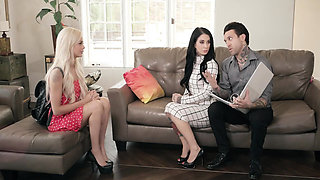 Babysitter Elsa Jean joins in a family threesome