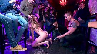 Mistress Kara and Ashley Lane fucking in an extreme bondage orgy
