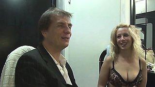 Horny German slut enjoys a good bukkake