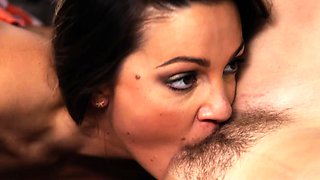 Abigail Mac and Cadence Lux goes Lesbian french kissing