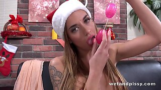 Silvia Dellai in Christmas Gifts at Puffy Network - WetAndPissy
