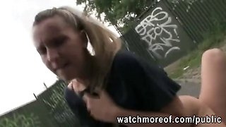Czech college girl picked up and banged for money