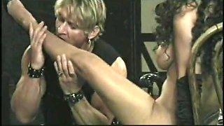 Horny ladies love spreading their legs for erected dicks