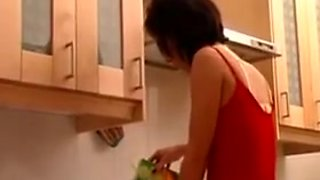 Milf fucked hard anal in the kitchen