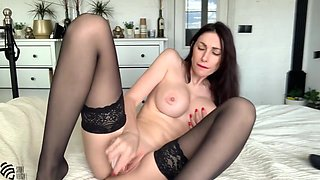 Hot Milf Smokes A Cigarette And Gets An Orgasm Fucking Herself With A Dildo With Liza Virgin