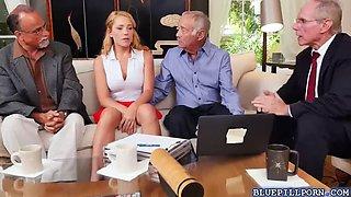 horny old men seduce Reylin ann rip off her clothes