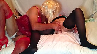 This woman is so nasty and she likes to have sex with her crossdressing hubby