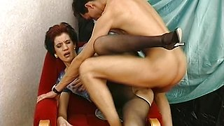 Horny MILF Fucked In Pantyhose