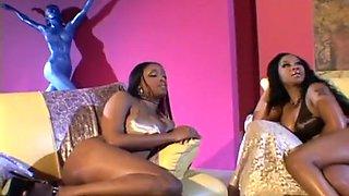 Black Lesbian Threesome Gets Kinky